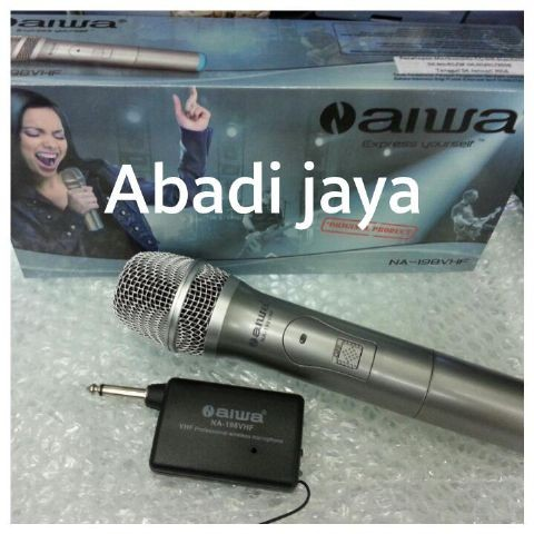 harga Mic aiwa na 198vhf (single mic) Tokopedia.com