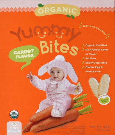 harga Yummy bites organic baby rice crackers 50gr Tokopedia.com
