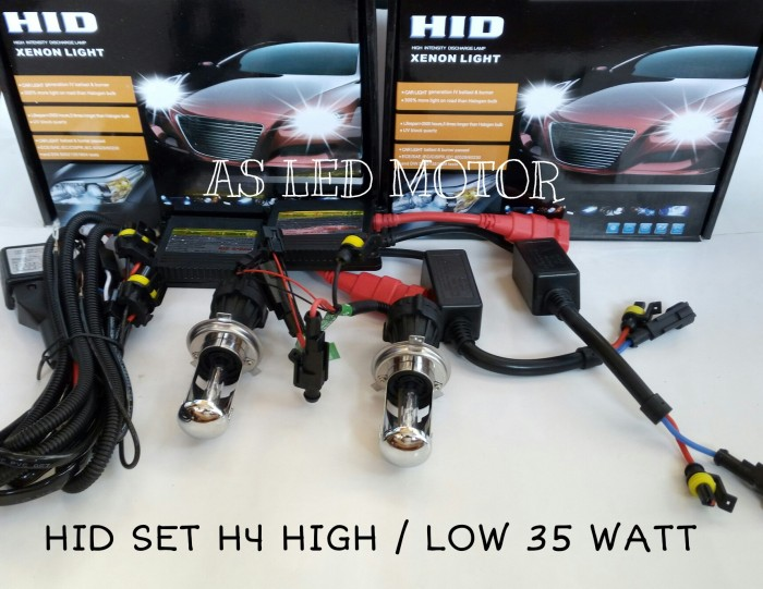 harga Lampu hid h4 high / low 35 watt   satu set Tokopedia.com