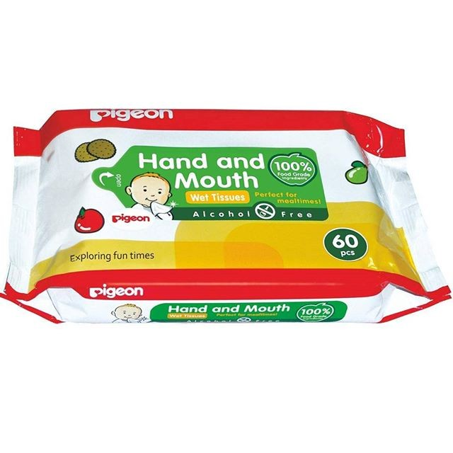 harga Pigeon baby hand and mouth wet tissue isi 60 sheets . Tokopedia.com