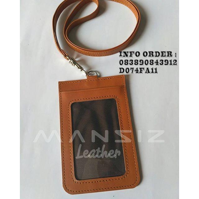 harga Id card holder tali kulit asli brown edition Tokopedia.com