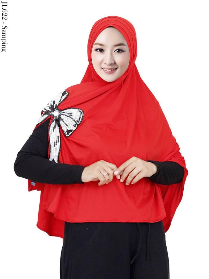 Jual Jilbab Syar I Spandek Korea Hias Payet Pita 622 Kota Depok Abyana Shop Tokopedia