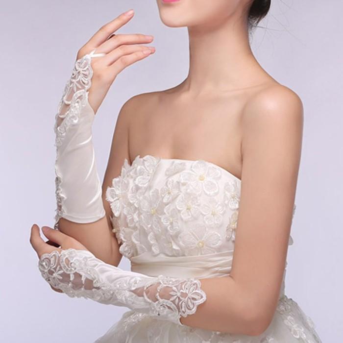 harga Kode sr02 sarung tangan pengantin bridal gloves wanita pesta Tokopedia.com