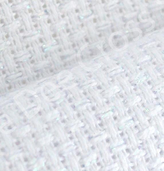 harga Kain kristik yeidam - 114-24-1 white glitter 14ct 90x150cm Tokopedia.com