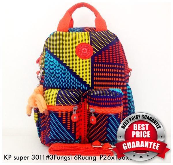 Tas Ransel Kipling Backpack Handbag Selempang 3in1 6 R 30 DISKON - UF d2111892b9