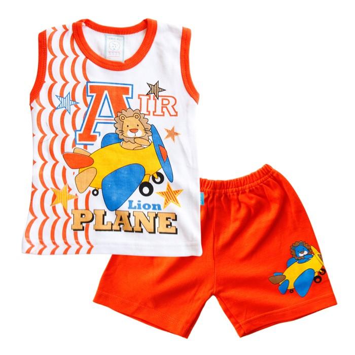 SKABe Baju Anak W/Tua Singlet Stelan Kaos 1339 - Orange - M