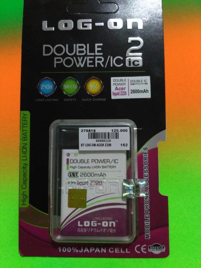 Baterai Double Power For Acer Liquid Z220 merk Log-On
