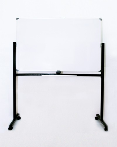 Foto Produk Papan Tulis Magnet 60 x 120 + Kaki 2 Muka SAKANA Free Ongkir JADETABEK dari officemart
