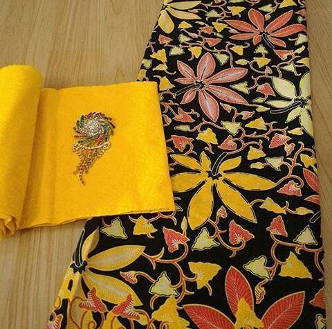 Jual Batik Print Manual Motif Daun Singkong Set Embos Sl Batik