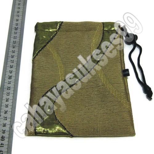 harga Sarung kantong kain coklat corak hijau kilap motif serat 20cm x 13cm Tokopedia.com
