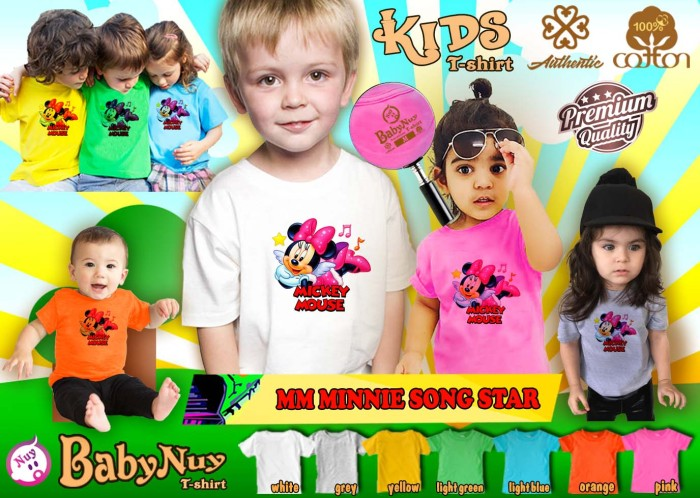 harga Kaos anak unisex branded minnie mouse - minnie song star Tokopedia.com