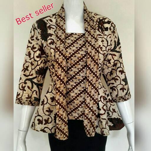 Model Baju Atasan Batik Wanita: Jual Baju Batik Wanita Model Kutu Baru Sogan/atasan Batik