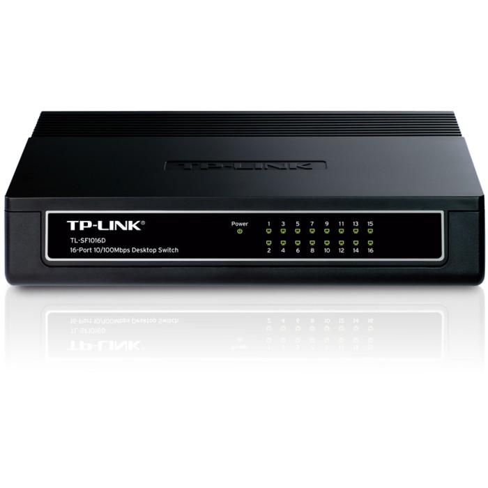 harga Tp-link 16-port 10/100mbps desktop switch tl-sf1016d - black Tokopedia.com
