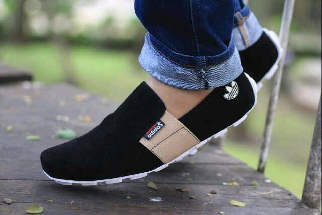 harga Sepatu casual santai slop slip on casual pria kulit suede murah Tokopedia.com