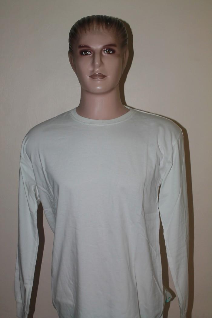 Jual Kaos Polos Lengan Panjang Karet Pria 30s Warna Putih Kota Depok Mallaca Store Tokopedia