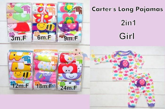 harga Carter long pajamas - setelan lengan panjang carter 2in1 girl Tokopedia.com
