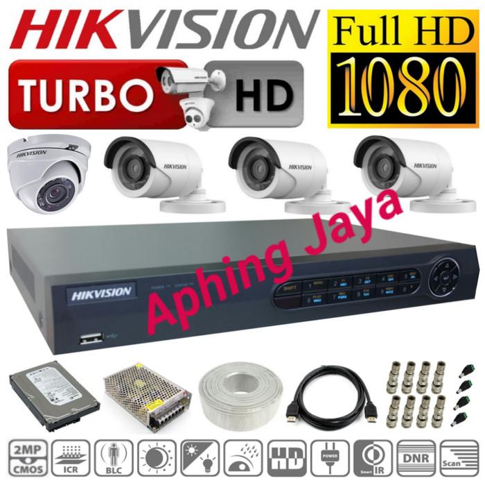 harga Paket cctv hikvision 4ch turbo hd 1080p + hdd 1tb super lengkap Tokopedia.com