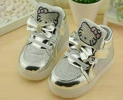 harga Sepatu boot anak cewek hello kitty hk silver led import fashion shoes Tokopedia.com