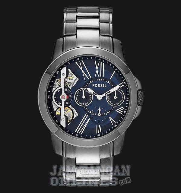Foto Produk Jam Tangan Pria Fossil ME1146 Automatic Grant Blue Dial Men Multifunct dari Jam Tangan Onlines