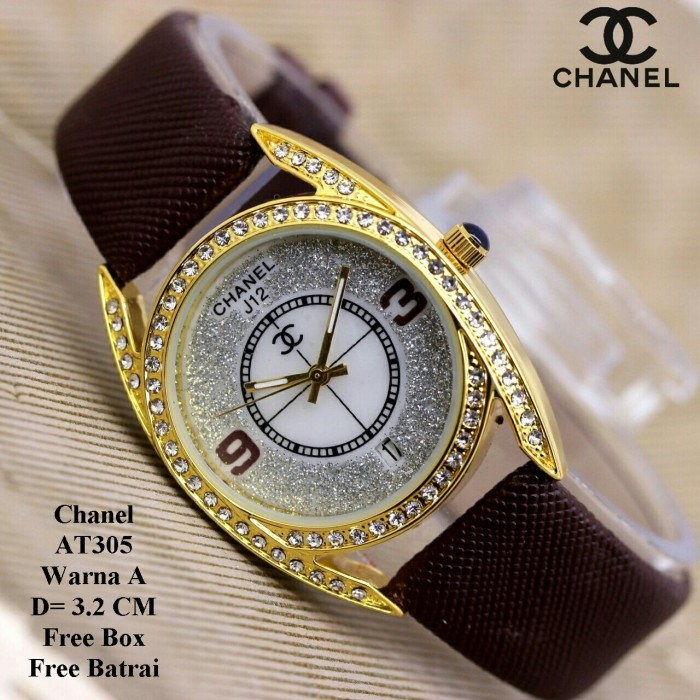 harga Jam tangan wanita / cewek / jam murah chanel rose brown ring gold Tokopedia.com