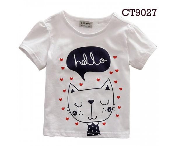 harga Short tee white cat hello (ct9027) Tokopedia.com