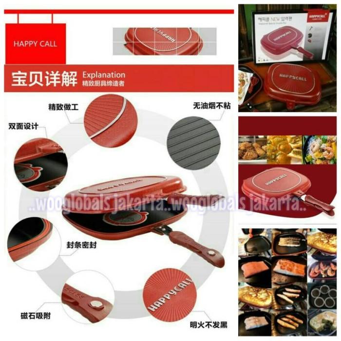 harga Penggorengan korea happy call double pan asli korea 32cm anti lengket Tokopedia.com