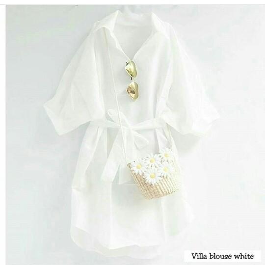 harga Villa blouse white Tokopedia.com
