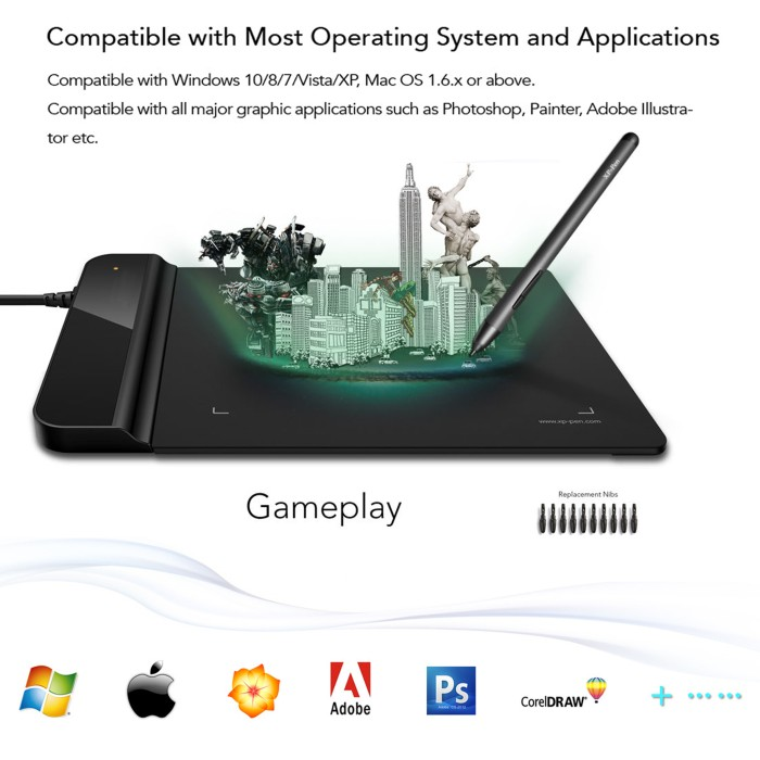 harga Usb drawing board tablet pen passive graphic design paint animation Tokopedia.com