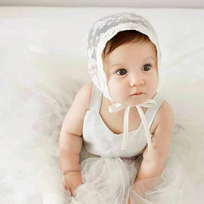 harga Topi bayi princess beanie lace #motif pita Tokopedia.com