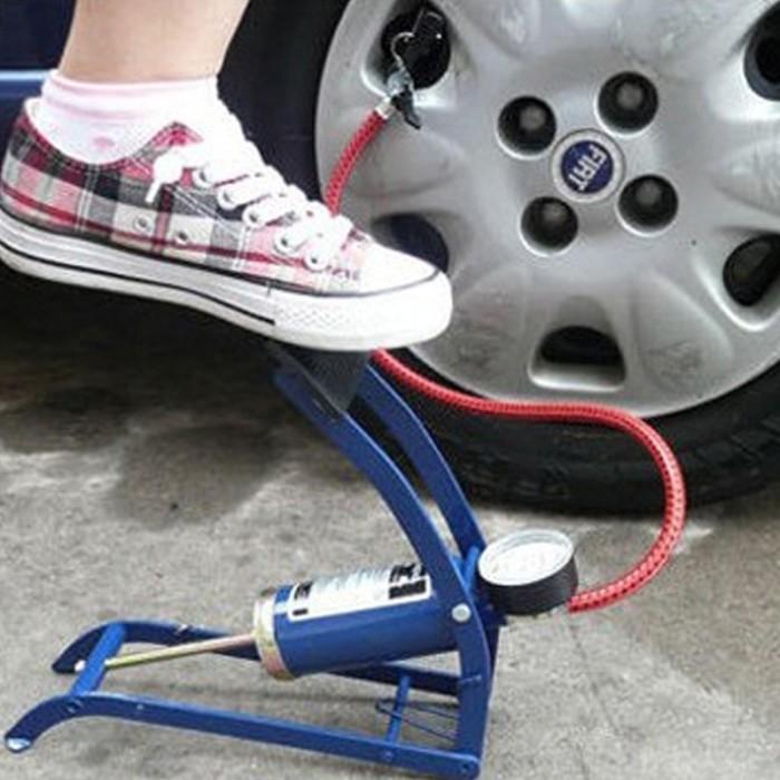harga Pompa ban sepeda motor dan mobil manual / pompa injak saat darurat Tokopedia.com