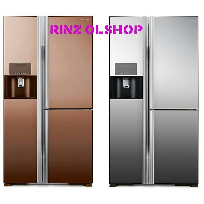 harga Hitachi kulkas refrigerator side by side inverter r-m80gpgd2x Tokopedia.com