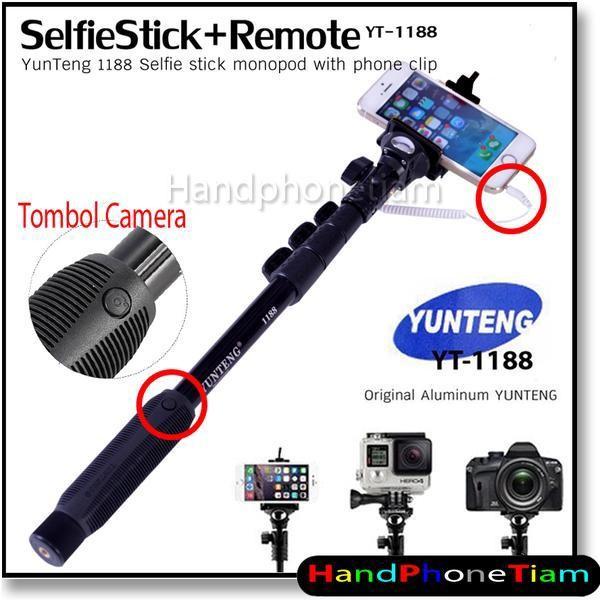 harga Tongsis kabel yunteng yt-1188 original / kabel + tombol kamera !! Tokopedia.com