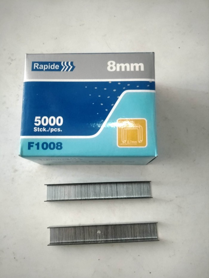 Isi staples tembak 8mm 5000 pcs / isi steples 8 mm f1008