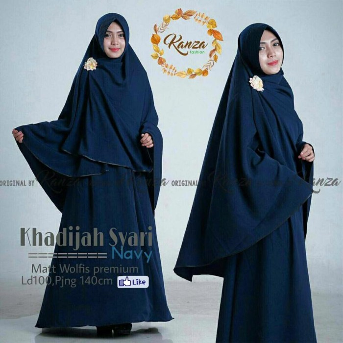 Jual Syari Navy Baju Gamis Hijab Syari Jilbab Panjang Ss