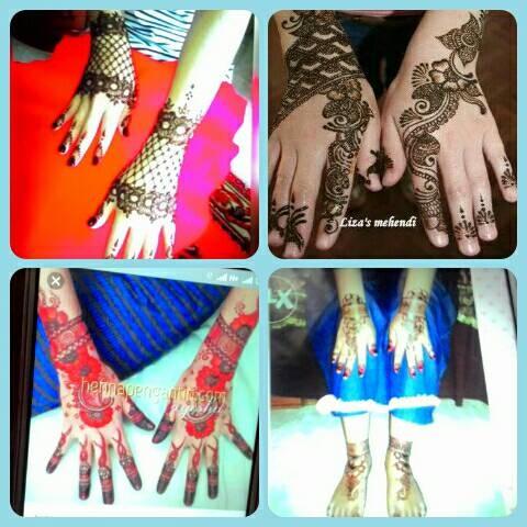 Jual Design Henna Wedding Kekinian Leli Henna Lukis Tokopedia