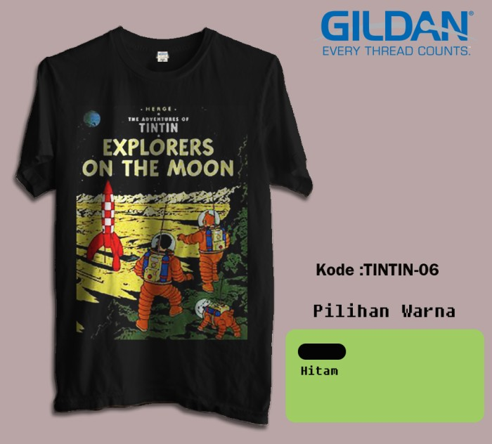 harga Kaos film tintin tshirt film animasi brandon 06 Tokopedia.com