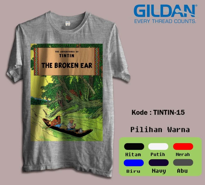 harga Kaos film tintin tshirt film animasi brandon 015 Tokopedia.com