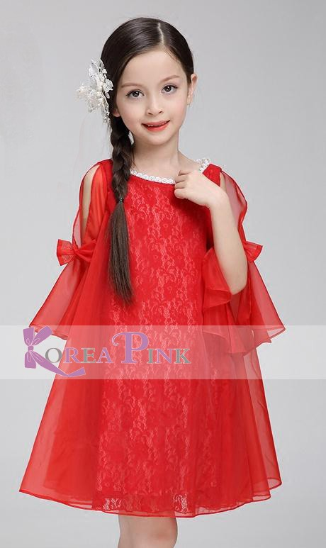 harga Dress anak perempuan : korea pink red dress sifon n brokat#5 Tokopedia.com