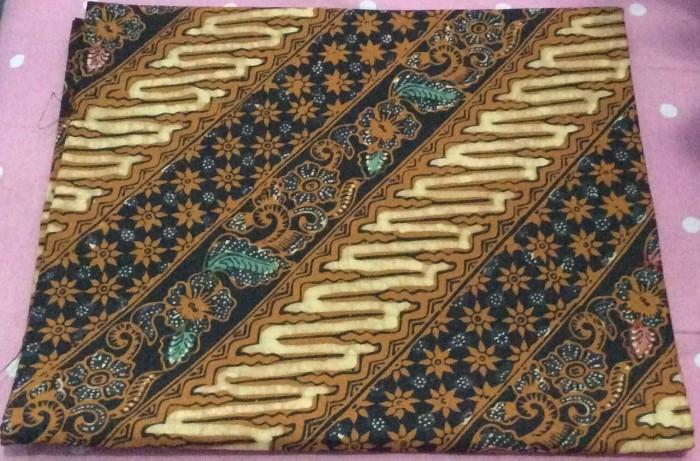 Jual Kain batik tulis kombinasi cap motif parang bunga klasik warna ... de90781616