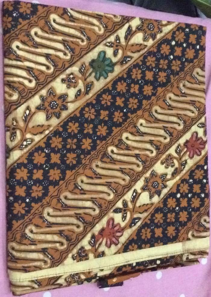 Jual Kain batik tulis kombinasi cap motif klasik parang bunga warna ... 29b6e78756