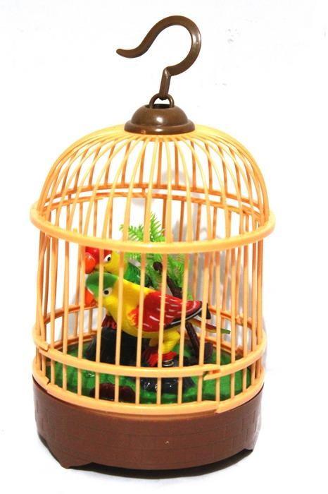 harga Mainan burung bernyanyi dalam sangkar wishdom bird Tokopedia.com