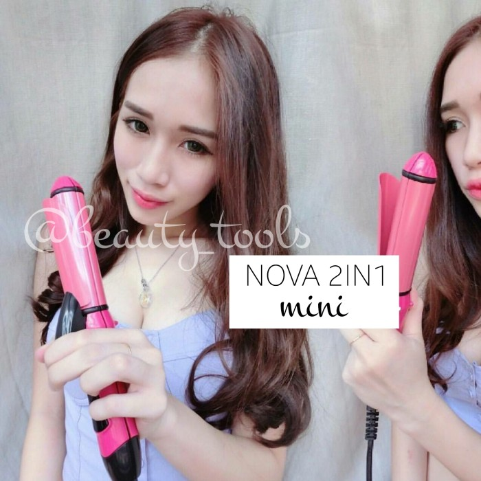 CATOK NOVA 2IN1 MINI LURUS CURLY BLOW