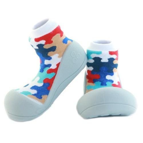 harga Attipas baby shoes puzzle - gray Tokopedia.com