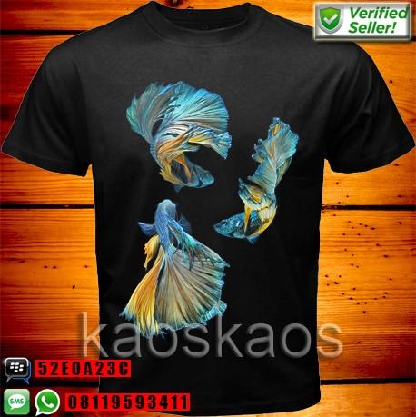 harga Kaos ikan betta cupang biru kuning Tokopedia.com