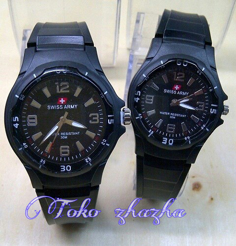 Jam Tangan Couple / Pasangan Swiss Army Tahan Air