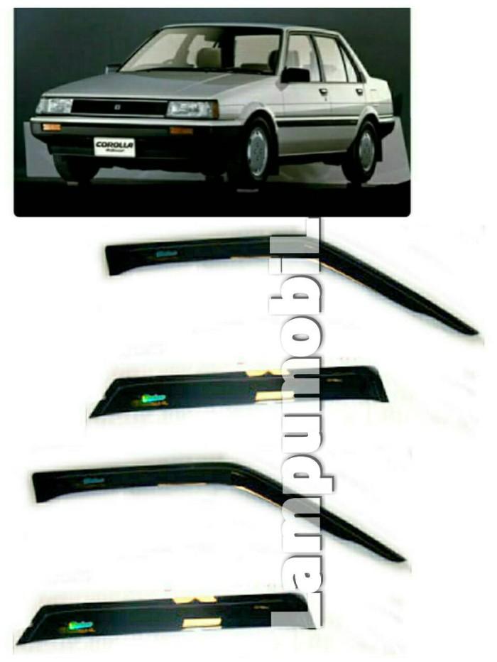 Side visor / talang air toyota corolla gl ae80 1984-1987 (set)