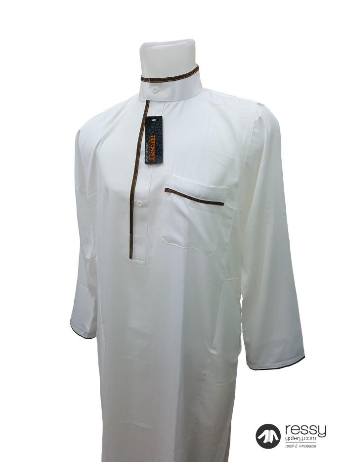 Jual Jubah Arab Baju Gamis Pria Exclusive Ressy Basit Embroidery