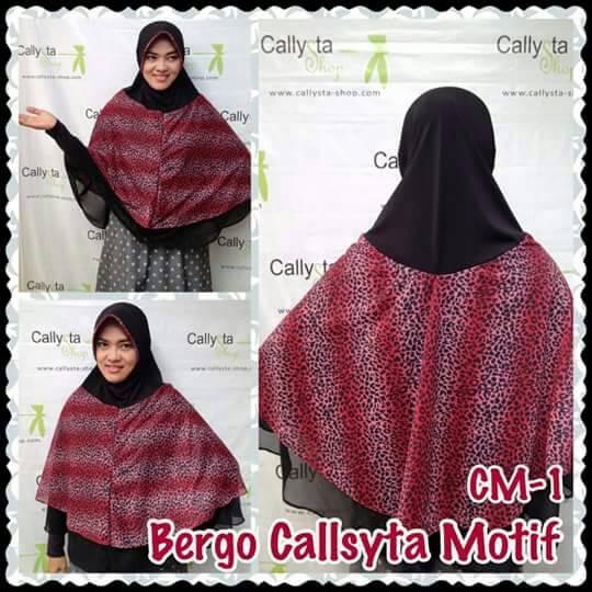 Bergo Callysta Motif/ Bergo Macan/ Hijab Ceruti/ Hijab Motif
