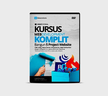 Foto Produk DVD Kursus Web Development Komplit Bangun 5 Project Aplikasi Website dari Ilmuwebsite