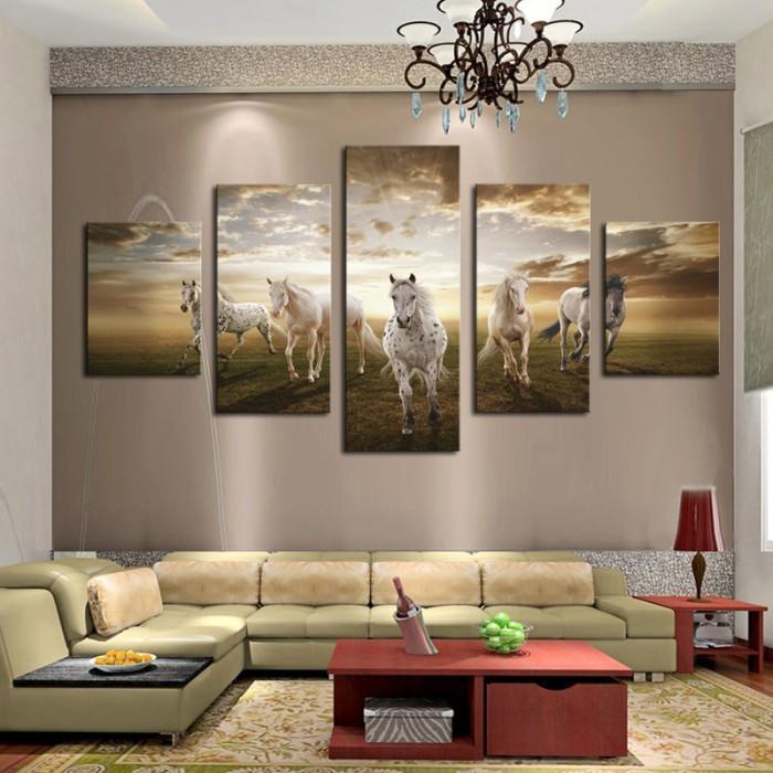 harga Lukisan dinding material canvas home dekor gambar kuda berlari Tokopedia.com